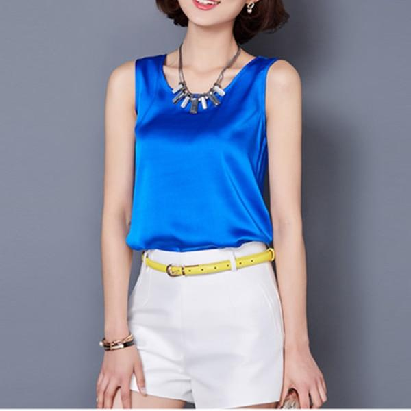 2018 Summer women blouses sleeveless casual vetement femme blusas y camisas mujer white shirt chiffon blouse women tops clothing-noashe