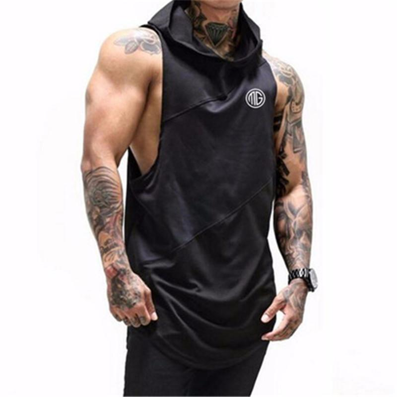 2018 Fitness Men Hoodies Brand Clothing Men Hoody Casual Sweatshirt Muscle Men's Slim Fit sleeveless Hoodies Sweatshirts M-2XL-noashe