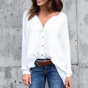 2018 Big Yard Tops Women V-neck Chiffon Blouses 3/4 Sleeve Female Shirt Fashion Large Size Plus Size Feminina Camisas Blusa-noashe
