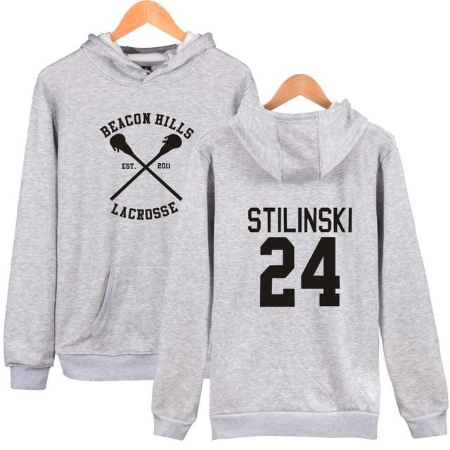 2017 christmas gift Stilinski 24 tracksuit oversized Hoodies sweatshirts Streetwear moletom Teen Wolf Men Women 4xl-noashe