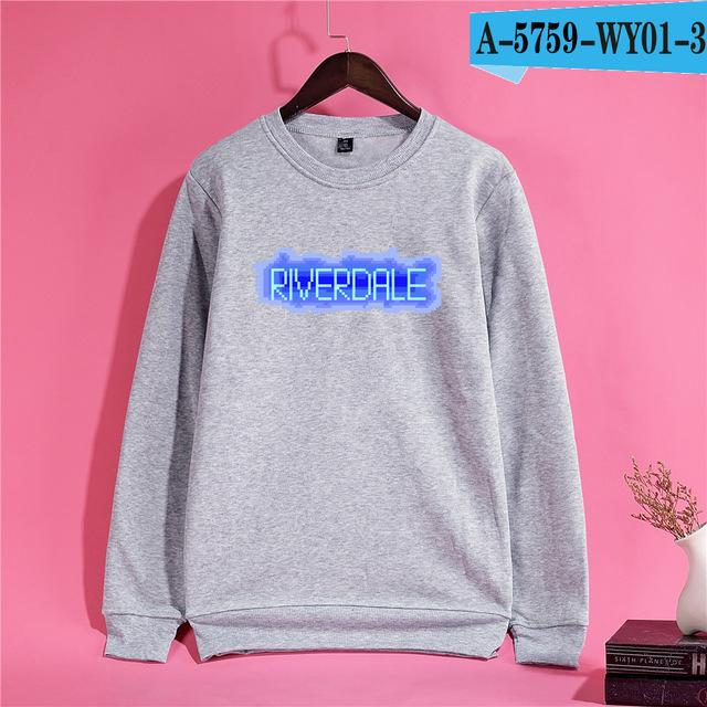 Trendy Riverdale HIGH Men/Women Hoodies 4Color Personality Casual Women Hoodies Black Snake Pattern Comfortable Sweatshirts 4XL-noashe