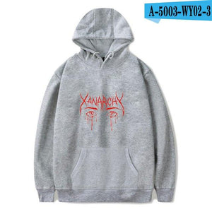 2018 Lil xan Xanarchy Fashion Hoodies Sweatshirts Autumn Hip Hop Men/Women Cool Hoodies Pullover Harajuku Popular Sweatshirts4XL-noashe