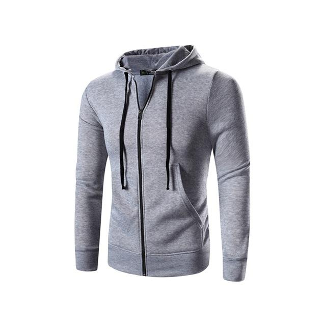 New Arrive Mens Hoodies Pullover Fleece Zip Up Pocket Hooded Jacket Sweatshirt Hombre Autumn Winter Fashion Slim Coat Moleton-noashe