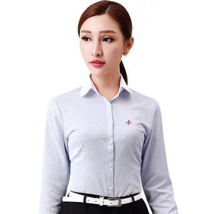 Dudalina Embroidery Female Shirts Lady 2018 Body Blusas Femininas Shirts Women Long Sleeve Tops Roupas Camisas Plus Size-noashe