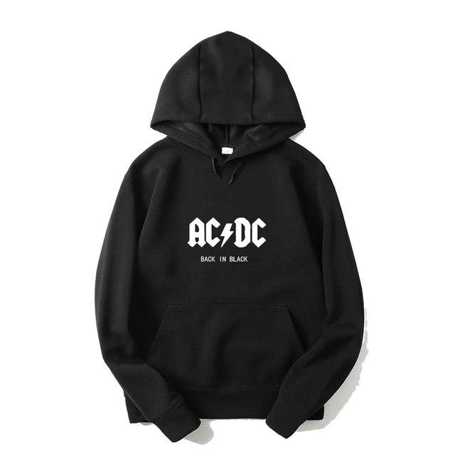 AC DC Hoodie Men Hip Hop Rock Band ACDC Back In Black Sweatshirts Male Female Casual Streetwear Jackets Hoody Spring Winter Tops-noashe
