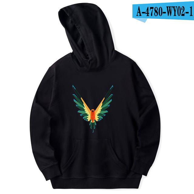 NEW Logan Paul Design Men/Women Pocket Hoodies 6Colour Maverick Wing Dream Spring Unisex Casual Sweatshirts Trendy Angel Pattern-noashe