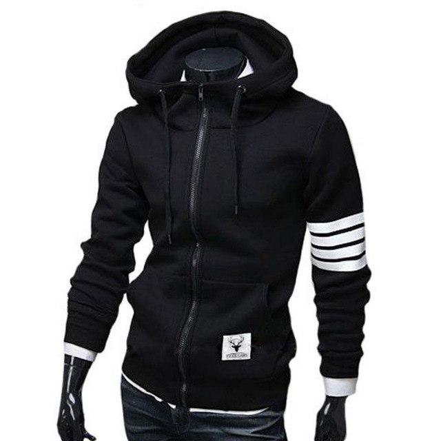 NEW Fashion Men Hoodies Brand Leisure Hoodie Sweatshirts Men Casual Zipper Hooded Jackets Male Hoody moletom-noashe