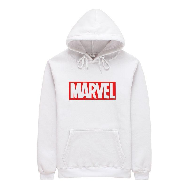 2018 New Brand Marvel men Women Hoodies Sweatshirt Men Pink Skateboards Male Cotton Hooded Sweatshirt-noashe