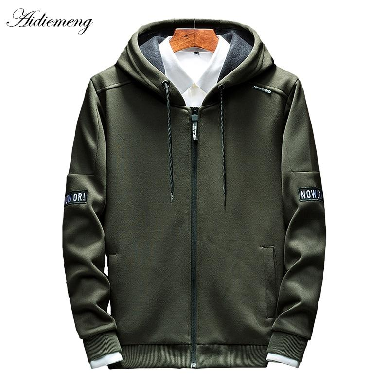 Hoodies Men Zipper 2018 Autumn Casual Mens Hoodies Sweatshirts Cotton Thick Top Fashion Men Hooded Jackets Male Coat Polo Hoody-noashe