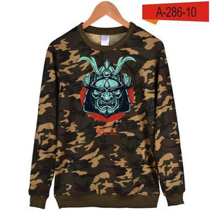New samurai japanese Hoodies men Winter Warm Hip Hop Black Cotton Sweatshirt men in Streetwear Style Clothes 4XL-noashe