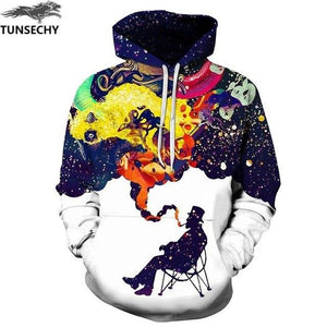 TUNSECHY New Fashion Men/Women 3D Sweatshirts Print Flowers Lion Hoodies Autumn Winter Hooded Pullovers Tops Free transportation-noashe
