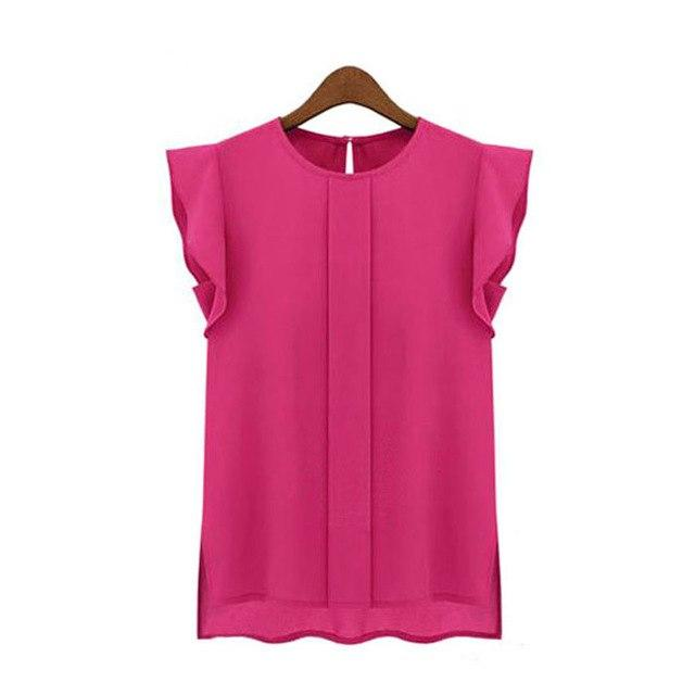 Feitong 2017 New Women Blouse Loose Shirt O-Neck Chiffon Blouse Female Sleeveless Chemise Femme Ropa Mujer #YL10-noashe