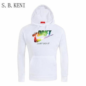 New JUST DO IT Men Hoodies Sweatshirts Cotton Groot Long Sleeve Hoodie Lightning print Mens Casual Brand Clothing Hoody-noashe