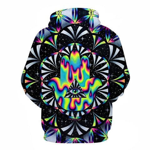 Trippy hamsa By Brizbazaar Art Printed 3d Hoodies Men Hoodie Autumn Sweatshirts Unisex Pullover Novelty Outwear Brand Tracksuits