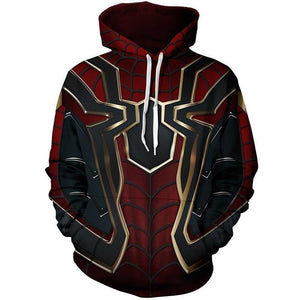 Cloudstyle 3D Anime Hoodies Men Iron Spiderman Cosplay 3D Full Print Streetwear Hoody Sweatshirts Tops Spring Autumn Pullovers-noashe