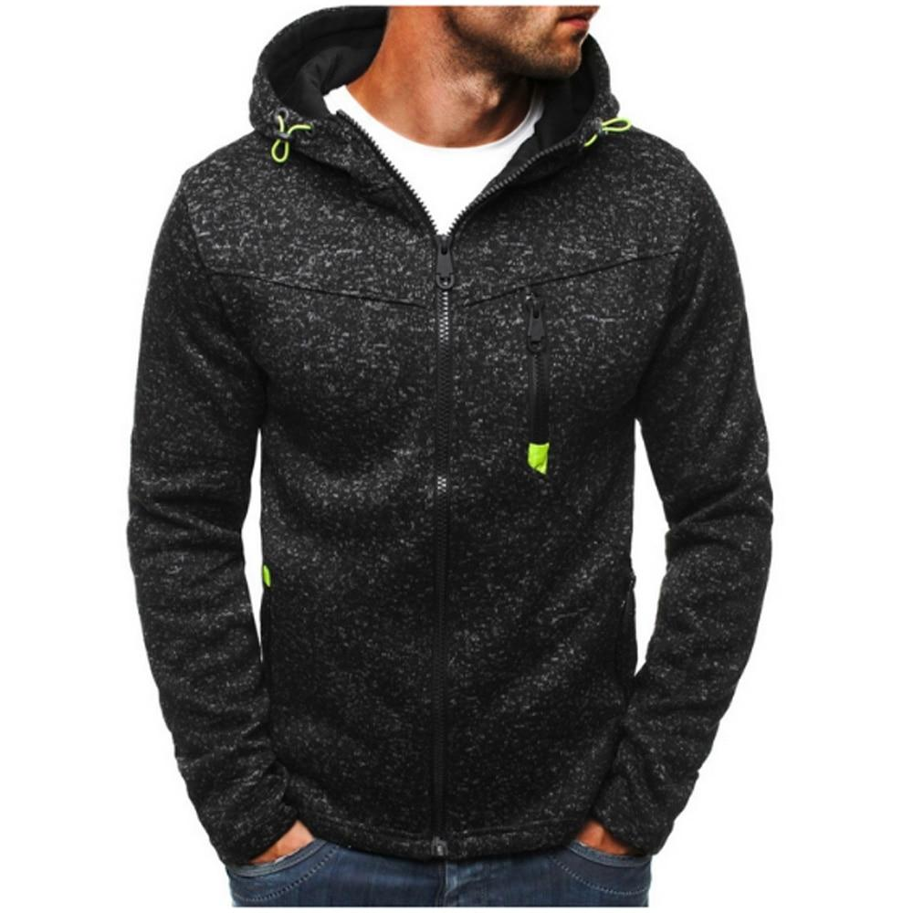 2018 New Brand Hoodie Streetwear Hip Hop Zipper Cardigan Hooded Hoody Mens Hoodies And Sweatshirts Size XXXL-noashe