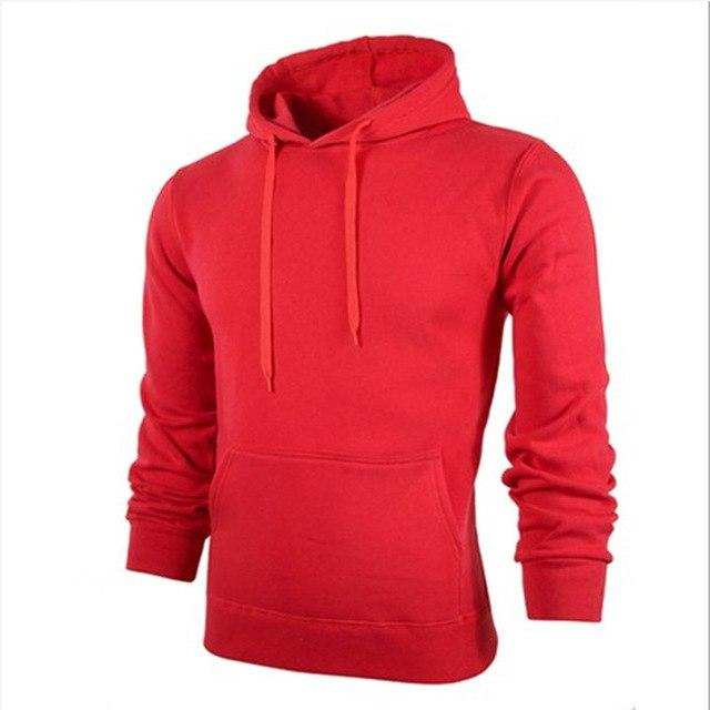 Spring Men Hoodie Casual Pullover Solid Pink Red Black Hooded Hoody Mens Hoodies Sweatshirts Tracksuit for Male Brand Clothing-noashe