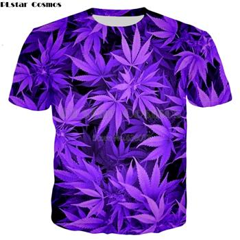 PLstar Cosmos Brand clothing 2018 autumn New Fashion hoodies Harajuku style Sweatshirt Purple weed Print 3d Mens Womens Hoodie-noashe