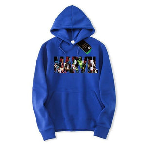 YUANHUIJIA Autumn Winter New Fashion MARVEL hoodies men Hip Hop streetwear color marvel sweatshirt Men Pullover men clothes 2018-noashe