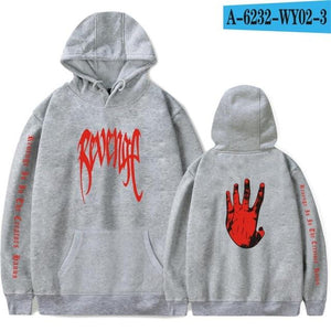 LUCKYFRIDAYF Xxxtentacion Revenge Cool Hoodies Men/Women Hot Sale Sweatshirts Rapper Hip Hop Hooded sweatershirts male/Women 4XL-noashe