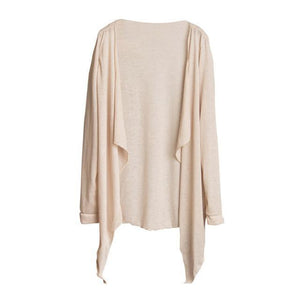 Free Ostrich Summer Brief Blouse Women Long Cardigan Solid Long Sleeve Thin Shirt Outerwear Tops Loose blusas mujer-noashe