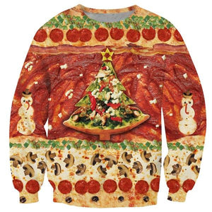Alisister Fashion Santasaurus/cat Pizza/Carlton Sweatshirt Printed Merry Christmas Sweatshirt Women/men Harajuku 3d Sweatshirt-noashe