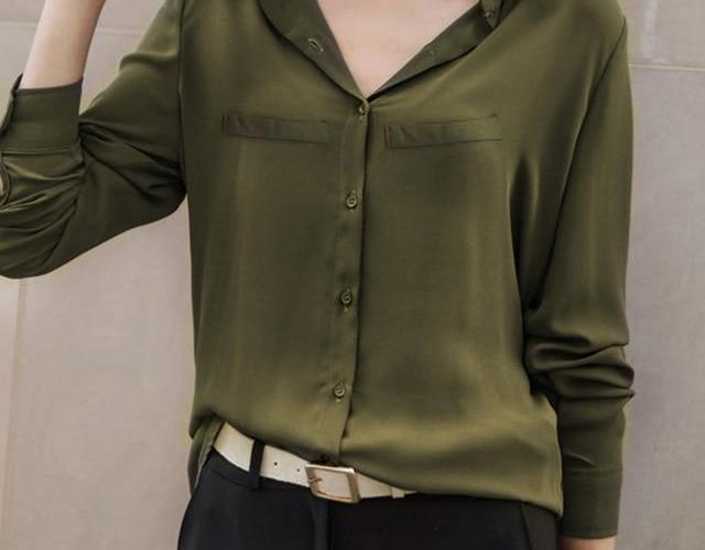 Brand Women Blouse 2018 New Casual Women's Long Sleeved Solid Shirt Plus Size Blouses Ladies Office OL Style Shirts Blusas-noashe