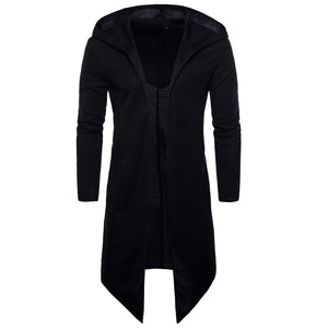 Men Trench Coat Spring Fashion Long Fit Trench Coat Men Overcoat-noashe