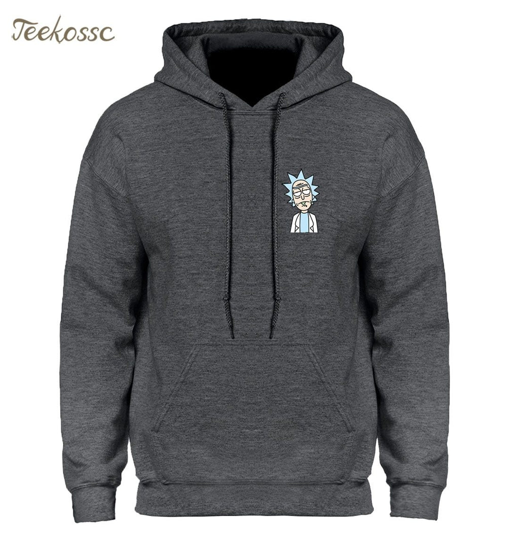Rick and Morty Hoodie Hoodies Sweatshirt Men 2018 Winter Autumn Hooded Hoody Cartoon New Fashion Casual Loose Homme Rick Jacket-noashe