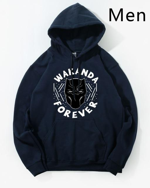 Black Panther Hoodie Men Wakanda Forever Hoodies Mens Killmonger Pullover Hooded Sweatshirt Harajuku Fleece Hip Hop Streetwear-noashe