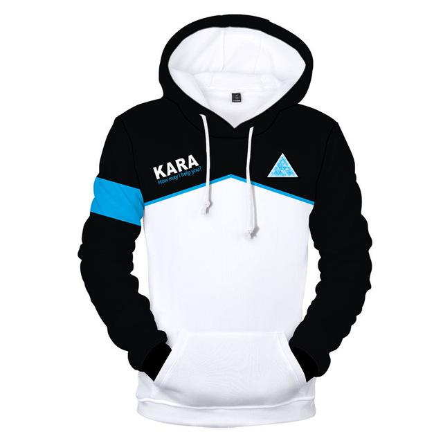 Detroit Become Human 3D Print Hoodies Men Women Autumn Winter Hooded Hoodie Hot Game Streetwear Hip Hop Pullovers-noashe