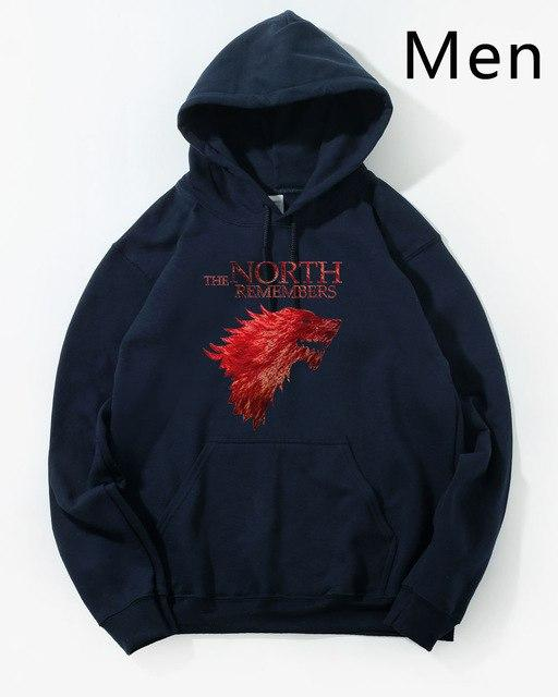 Game Of Thrones The North Remembers House Stark Hoodie Hoodies Sweatshirt Men 2018 New Winter Autumn Hooded Hoody Hip Hop Jacket-noashe