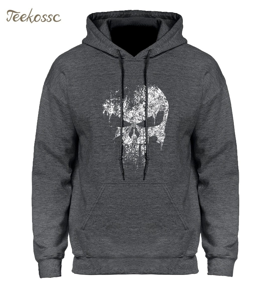 The Punisher Skull Print Super Hero Hoodie Hoodies Sweatshirt Men 2018 New Brand Winter Autumn Hooded Hoody Hip Hop Streetwear-noashe