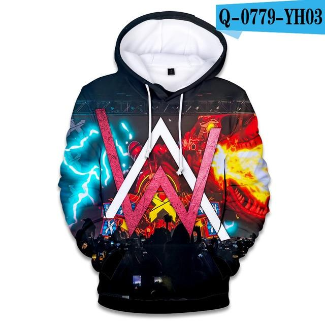 2018 Hot Fashion Alan Olav Walker 3D Hoodies Men/women High Quality Harajuku 3D Print Alan Walker Men's Hoodies Clothes-noashe