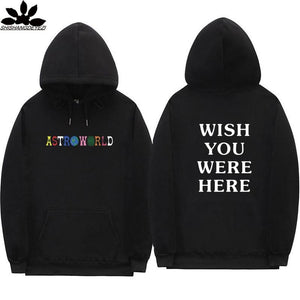 Travis Scott Astroworld WISH YOU WERE HERE hoodies fashion letter print Hoodie streetwear Man and woman Pullover Sweatshirt-noashe
