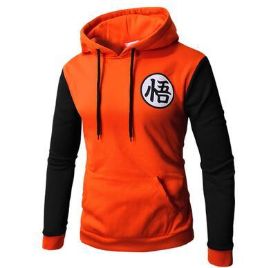 2018 autumn and winter new fortite men's long-sleeved hoodie stitching personality Goku print sweatshirt pullover large size-noashe
