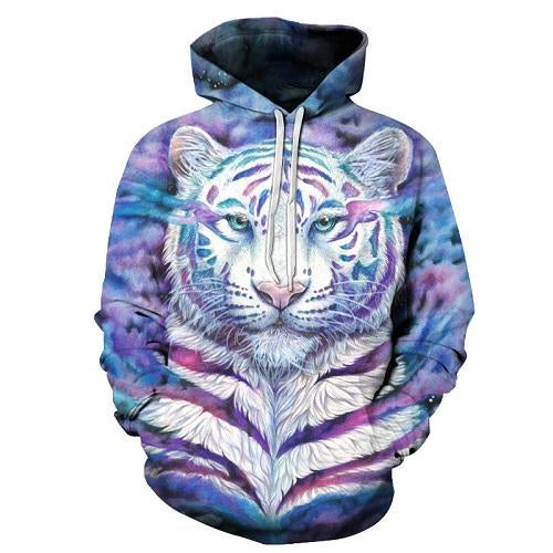 Colorful Tiger 3D Sweatshirts Men Women Hoodies Hooded Pullover Unisex Women Tracksuits Fashion Coat 6xl Quality Outwear New-noashe