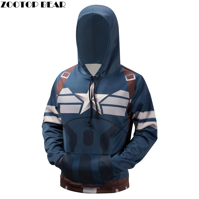 Captain American Hoodies Sweatshirt 3D Superhero Hooded Pullover Novelty Streetwear Plus 6XL Hoodies Brand Qulaity Hoodie-noashe
