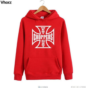 WEST COASTS chopper printed sweatshirt new hoodies long sleeves O-neck men's sportswear for men large size-noashe