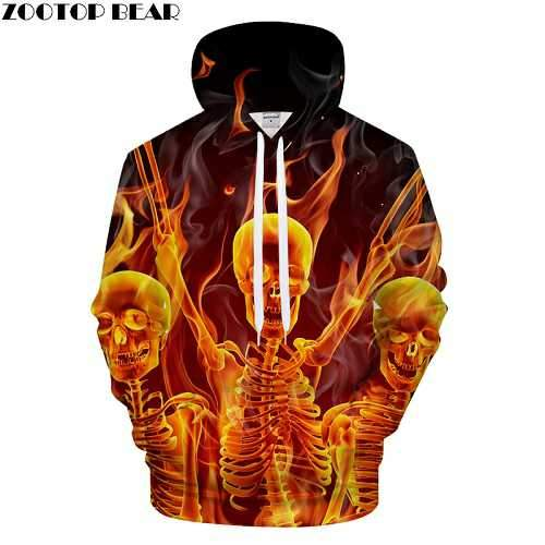 Suncha Skull 3D Printed Hoodies Men Women Sweatshirts Hooded Pullover Brand 6xl Qaulity Tracksuits Boy Coats Fashion Outwear New-noashe