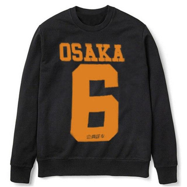 2015 winter and autumn famous brand  PLAYER STYLE GRAPHIC MENS  SWEATSHIRTS  SMILE OSAKA 6  coat