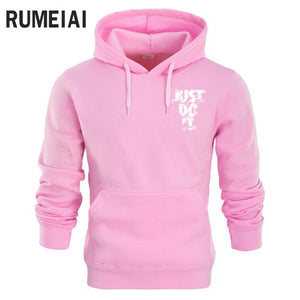 RUMEIAI New 2018 Hoodies Men Long Sleeve Hoodie Lightning JUST DO IT print Sweatshirt Mens Casual Brand Clothing Hoody Jacket-noashe