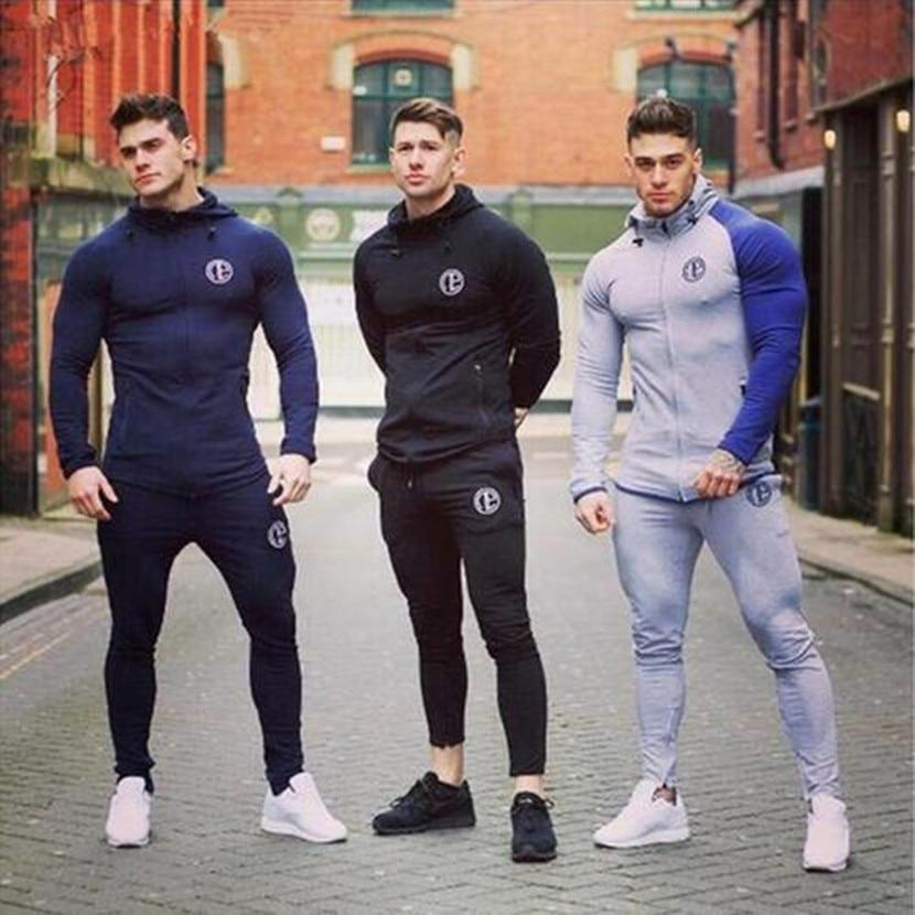 2018 New Arrival Brand Bodybuilding Hoodies Men Gyms Sweatshirts Long Sleeve Cotton Sportwear Fitness Pullover Muscle Tops 3XL-noashe
