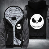 undertale  game  Winter Cosplay movie character Jack Skellington Hoodie devil men Tops Casual Thicken Zipper USA size S-5XL