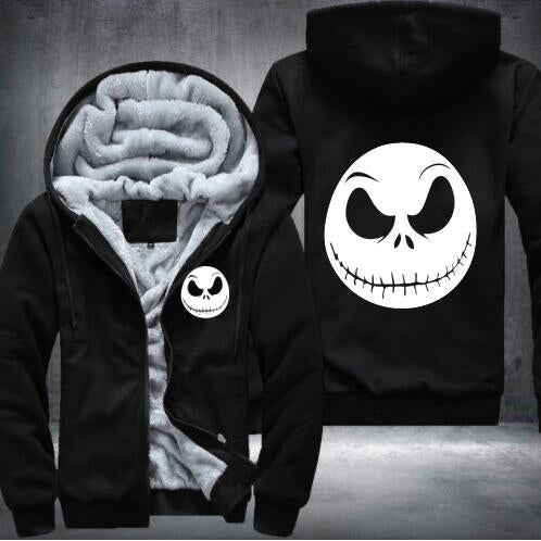 undertale game Winter Cosplay movie character Jack Skellington Hoodie devil men Tops Casual Thicken Zipper USA size S-5XL-noashe