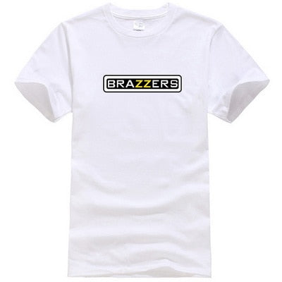 BRAZZERS 2019 Streetwear Brazzers Printed Men Fashion T-shirt Short sleeve O-neck Harajuku Summer Pure Color Casual Men T-shirt
