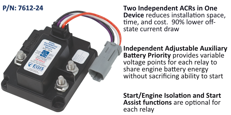 Triple Battery Advanced Automatic Charging Relay