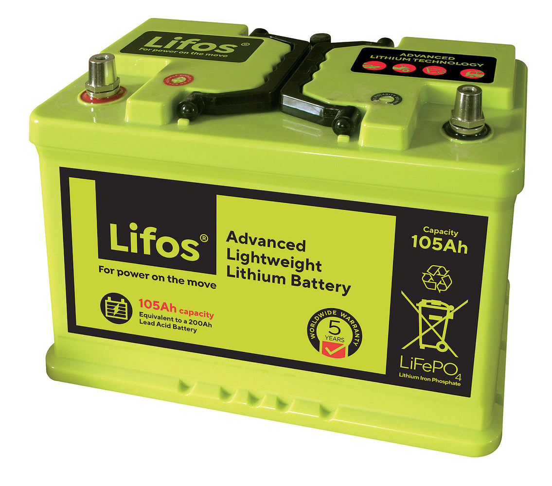 105Ah LiFOS - Leisure Lithium-Ion Battery