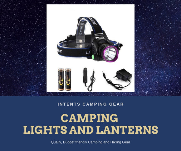 Camping lights, lanterns and Headlamps