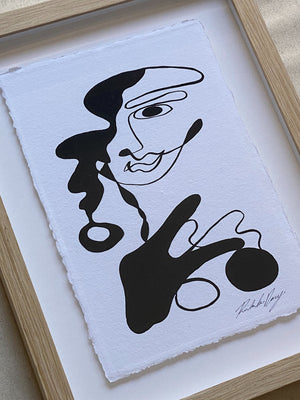 Disco Earrings - Acrylic on cotton paper. Framed. 410mm x 320mm